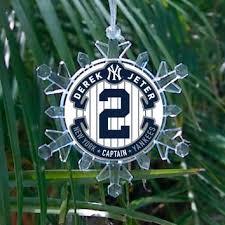 New York Yankees Christmas Tree Ornament by Mlb New York Yankees Derek Jeter Pro From For Die Hard Fans