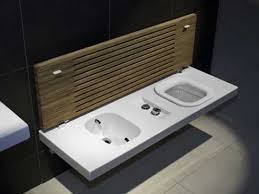 Toilet With Bidet Built In G Full Toilet And Bidet Bench From Hatria Freshome Com