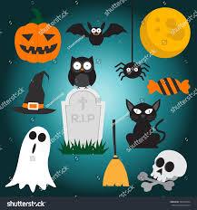 set halloween element haloween party sign stock vector 495949444