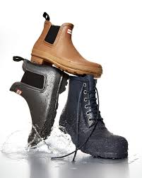 hunter original gum sole chelsea boot in gray for men lyst