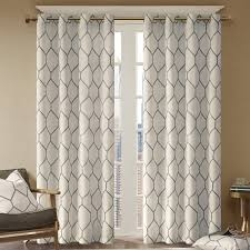 Sheer Grommet Curtains Heffington Geometric Semi Sheer Grommet Single Curtain Panel