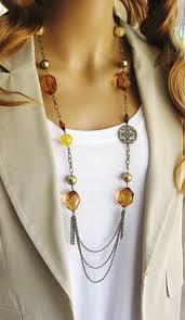 long black chain necklace images Long black beaded necklace multistrand black chain necklace jpg