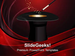 hat magic wand with stars powerpoint templates and powerpoint