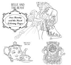 free coloring pages disney u0027s beauty beast disney gals