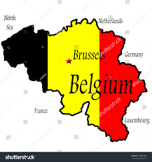 Map Of Belgium And France by Map Belgium Brussels Highlighted Flag Colors Stock Illustration