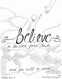 believe on the lord jesus u201d coloring page coloring home