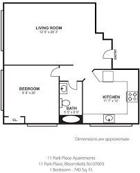 eat in kitchen floor plans floor plans for 11 park place apartments located in bloomfield nj