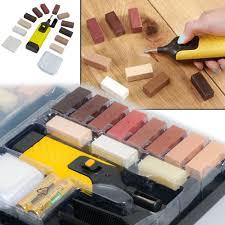 Laminate Floor Repair Kits 19pc Laminate Floor Worktop Repair Kit Wax System Sturdy Case