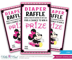 baby minnie mouse baby shower minnie mouse raffle tickets from aoprintablesforkids on