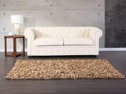 Esszimmertisch Teppich Teppich Beige 160x230 Cm Lederteppich Fransenteppich Teppich