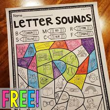 free beginning sounds worksheet where you color by beginning sound