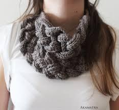 braided scarf braided cowl crochet bib scarf braided scarf crochet