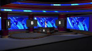 News Studio Desk by Virtualsetworks Virtual Set Studios