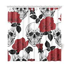Sugar Skull Bathroom Shower Curtains Awesome Skulls