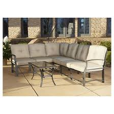 Sectional Table Serene Ridge 7 Piece Aluminum Outdoor Sofa Sectional Patio