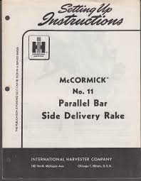 international harvester mccormick 11 parallel bar side delivery