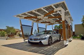 bmw solar carport concept unveiled for project i vehicles