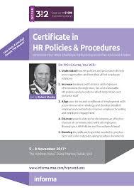certificate in hr policies u0026 procedures informa middle east