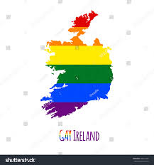 Blank Map Of Ireland by Vector Map Ireland Lgbt Stock Vector 306315422