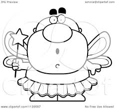 cartoon clipart of a black and white shocked male tooth fairy