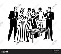 cocktail clipart black and white cocktail party retro clip art vector u0026 photo bigstock