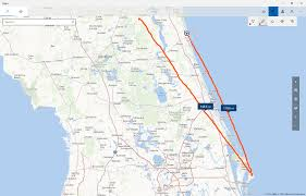 Brooksville Florida Map by Maps Easily Find Distances Between Two Points Using Your Finger