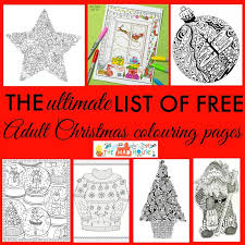 free christmas colouring pages adults ultimate roundup
