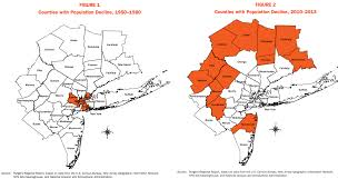 Map Of New York Counties Peak Sprawl The Fringes Of The New York Region Are Shrinking