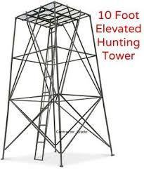 Elevated Bow Hunting Blinds 10 U0027 Hunting Tower Deer Stand Elevated Platform Blind Rifle Bow
