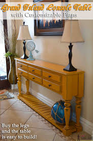 free plans grand island console table her tool belt
