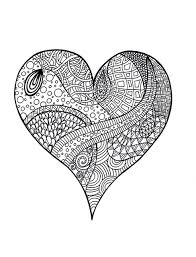 heart zentangle colouring page psychedelic app and coloring