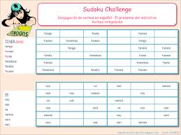 Challenge Explicacion Me Encanta Escribir En Español Sudoku Challenge El Presente