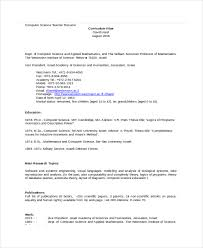computer science resume template computer science resume exle 9 free word pdf documents