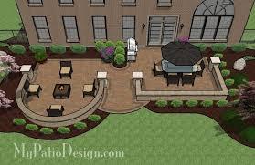 Backyard Patio Designs Beautiful Backyard Patio Design With Seat Wall