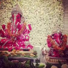 Home Ganpati Decoration Ganesh Chaturthi Decoration Ideas Festive Season Pinterest