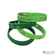 s day cutout shamrock rubber bracelets