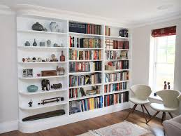 built in book shelves bookshelves family roombuilt under