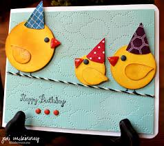birthdays are for the birds child birthday card punch su