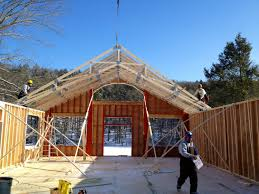 danbury elks lodge crane day the barn yard great country garages scissor truss for wide open great room space