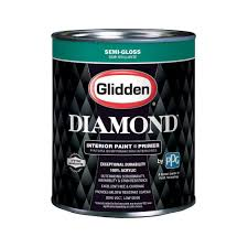 glidden diamond 1 qt pure white semi gloss interior paint and