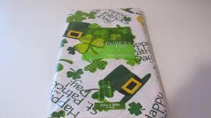 st patrick u0027s day vinyl tablecloth green shamrock luck of irish