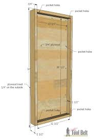 Cabinet Door Plans Woodworking Jewelry Cabinet Her Tool Belt