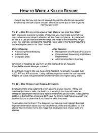 resume administrative skills how to write a killer resume http resumesdesign com how to