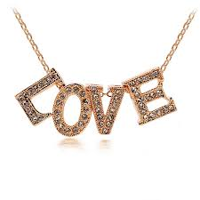 Name Chain Necklace Aliexpress Com Buy Fashion Diy Letter Love Name Charm Pendant