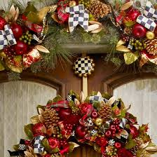 mackenzie childs courtly check wreath hanger