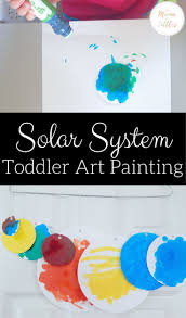 solar system toddler painting painting activities solar system