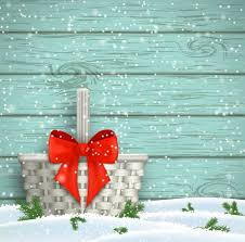 christmas background with wooden wall and red bow vector vector