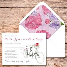 bicycle for two wedding invitation by appleberry press