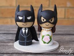 batman batman batgirl wedding cake topper genefy 02