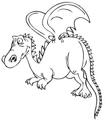 coloring pages cute dragons draw cute red baby dragon step